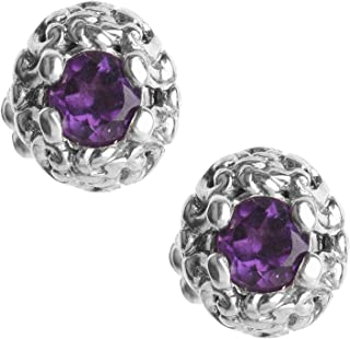 product image for Carolyn Pollack Sterling Silver Sterling Silver Choice Gemstone Birthstone Filigree Stud Earrings