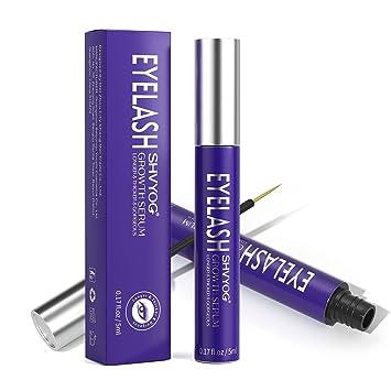 Eyelash Growth Serum,Eyelash Enhancer Serum with Natural Extract,SHVYOG Upgraded Lash Booster Serum for Growing Longer Fuller Thicker Lashes&Brow 5ML