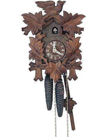 Anton Schneider Reloj cucú 5 follajes, pajarito SC 80/9