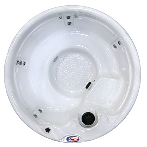 American Spas Patio Am-511Rs 5 Person 11 Jet Round Spa, Sterling and Smoke