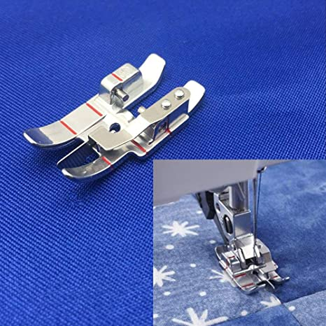 DREAMSTITCH 1//4 1-4 Snap on Edge Guide Patchwork Quilting Presser Foot for Pfaff IDT Walking Foot Machines Creative Select Expression 820924096 Quarter Inch