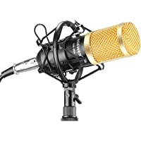 Neewer NW-800 Professional Studio Broadcasting & Recording Microphone Set Including (1) NW-800 Condenser + (1) Shock Mount + (1) Ball-type Foam Cap + (1) Microphone Power Cable (Black)
