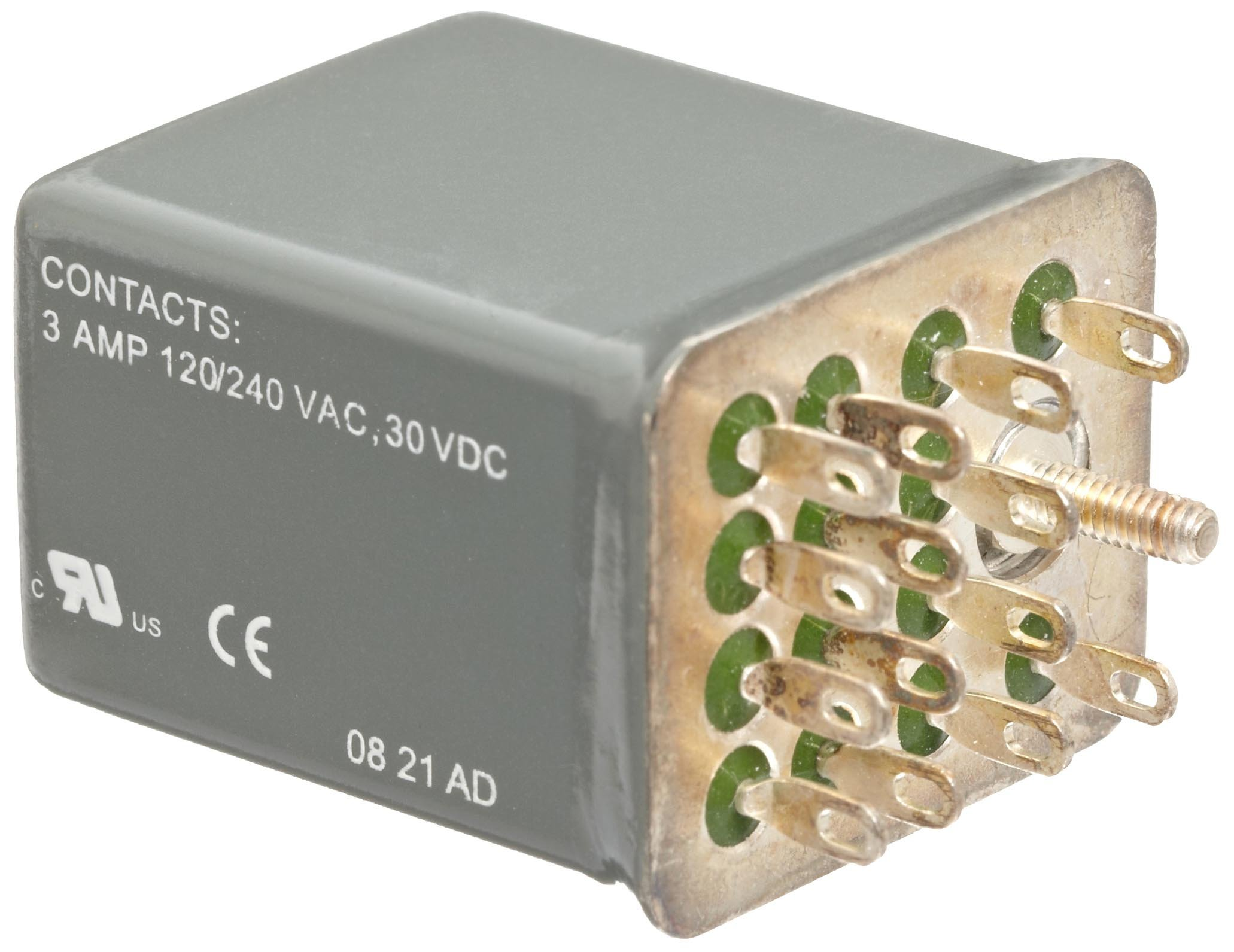 Siemens 3TX7127-3HC00 Basic Plug In Relay, Hermetically Sealed, Square Base, Mechanical Flag, 4PDT Contacts, 3A Contact Rating, 24VDC Coil Voltage
