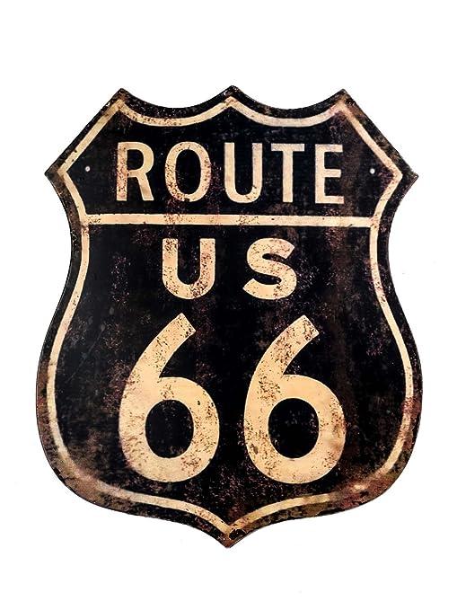 Cartel de Chapa de Pared Muestra de la Ruta 66 el Mural Hoja ...