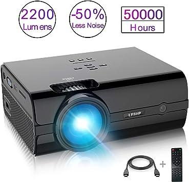 Proyector de Vídeo, LESHP LED Proyector Portátil Full HD 1080p ...