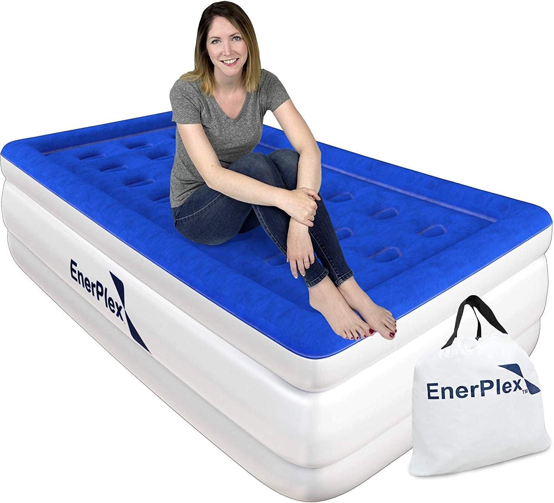 EnerPlex Dual Pump Luxury Twin Size Air Mattress