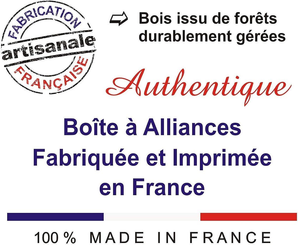 Alliance de Mariage ou Bague de fian/çailles Boite /à Alliances personnalis/ée en Bois Personnalisation de la Bo/îte avec les initiales des Mari/és