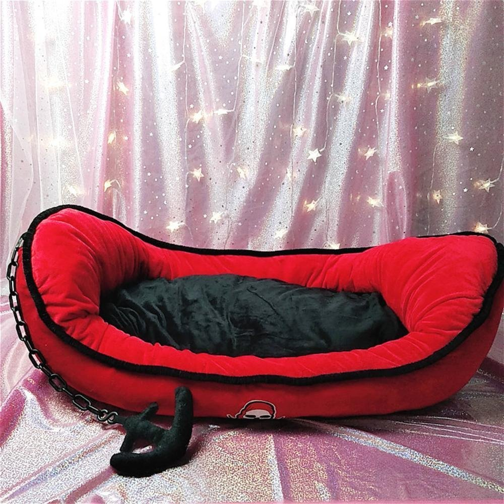 A 855513cm A 855513cm Desti Flakes Pet Bolster Dog Bed Comfort Small and Medium-Sized Dog Kennel cat nest (color   A, Size   85  55  13cm)