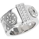 Guess Damen-Ring Messing Glas weiß - UBR28514