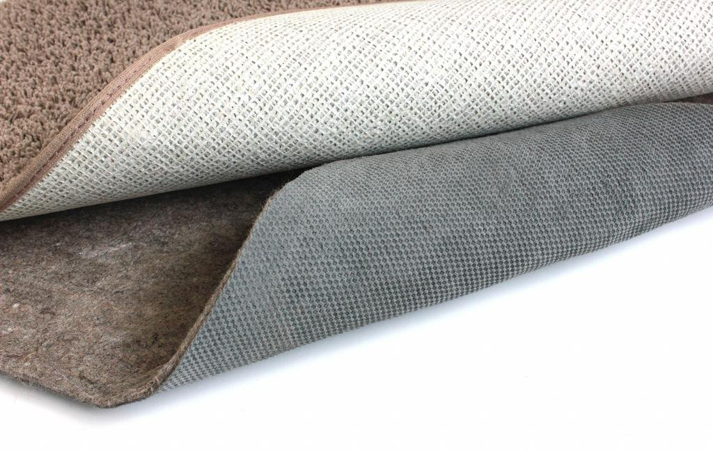 Oval 5'x8' Duo-Lock Felt and Rubber Non Slip Rug Pad for Hard Floor Surfaces and Carpet.