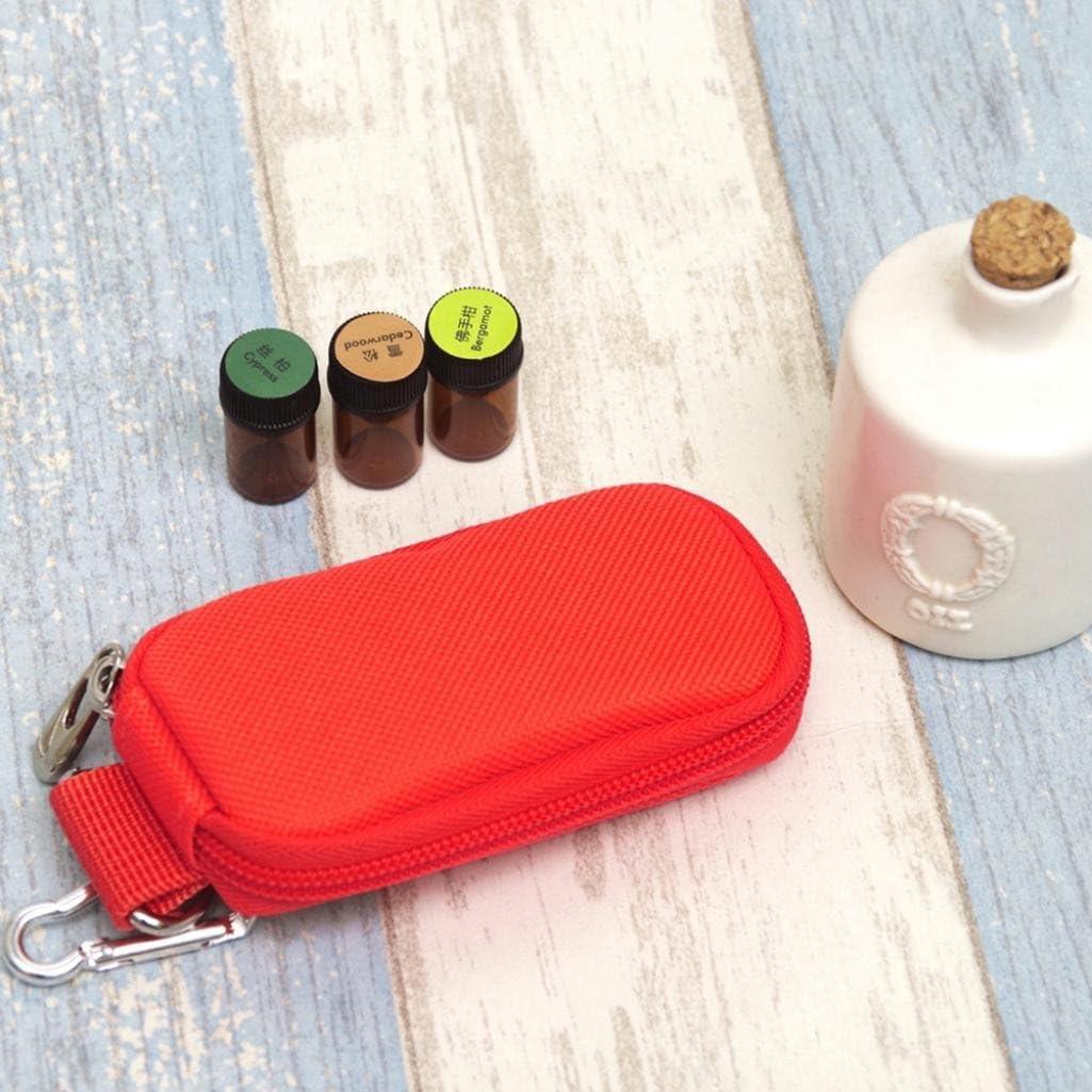 Black Geshiglobal Women Travel Organizer 10 Bottles Holder Essential Oils Storage Bag Carry Case