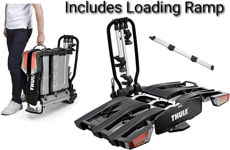 Thule 934 Easyfold Fahrradträger Für 3 Fahrräder Xt Fahrradträger Für Anhängerkupplung Klappbar Mit Verladerampe Auto