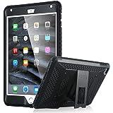 iPad Mini4 ケース iPad Mini4 カバー ULAK [ノックス アーマー シリーズ] Apple iPad Mini 4 専用ケース 二層構造 衝撃吸収 耐衝撃性 背面スタンド機能 Apple iPad Mini 4 専用 カバー(ブラック)