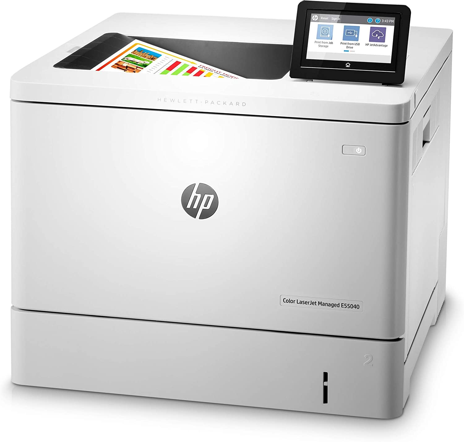 HP Color Laserjet Managed E55040dw - Impresora láser: Amazon.es ...