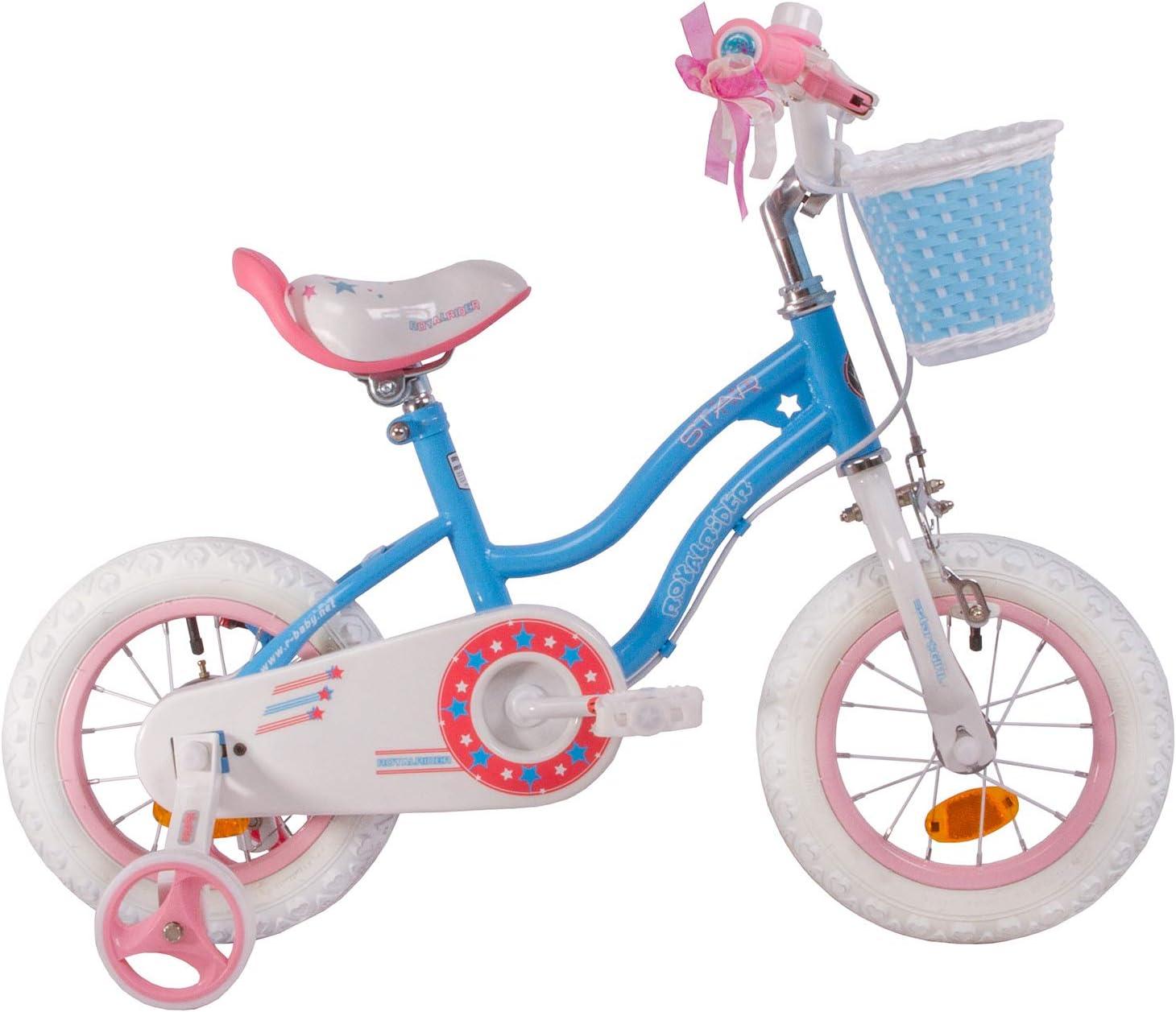 RoyalBaby Star Girl, bicicleta para niñas, de 3 a 6 años, 12-14-16 pulgadas, con ruedas de entrenamiento y soporte de estacionamiento: Amazon.es: Deportes y aire libre