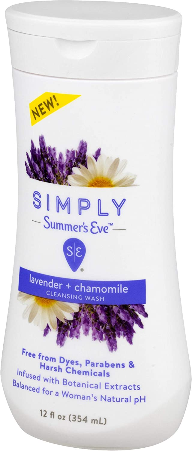 Summer's Eve Simply Cleansing Wash, Lavender and Chamomile, pH Balanced, Free from Harsh Chemicals and Dyes, 12 Fl Oz, Pack of 3: Health & Personal Care