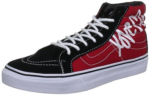 Vans U Botines Sk8-Hi Slim Rojo/Negro EU 37 (US 5,