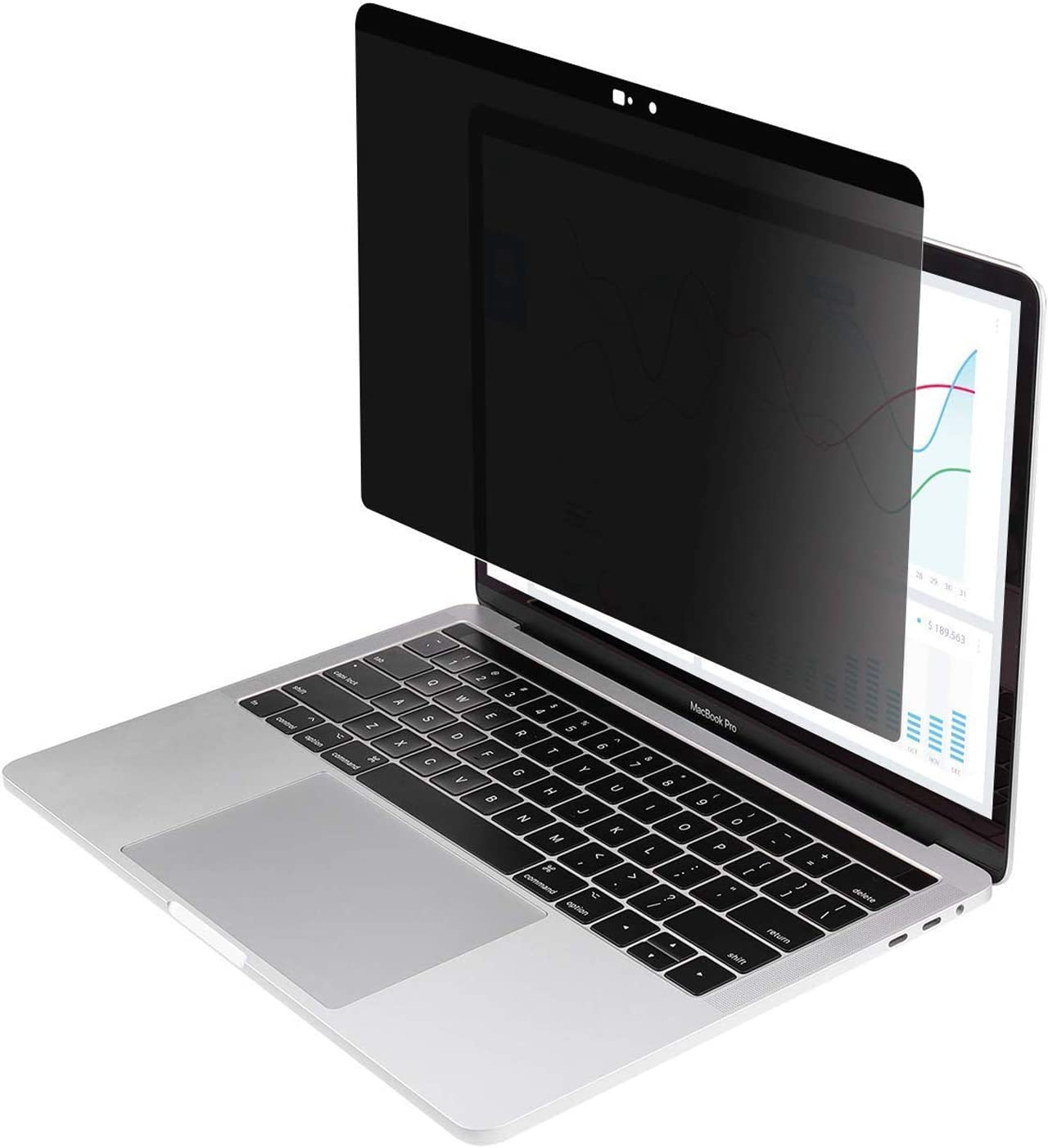 AISCPRO Magnetic Privacy Screen Protector【Webcam Cover Slide】 Anti-Spy Filter Fit MacBook Air 13 Inch Laptop (Model: A1237/A1304/A1369/A1466)