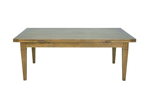 Artefama Furniture Manhattan Extendable Dining Table, Honey Brown