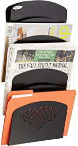 Safco Products Steel Seven Pocket Letter/Legal Wall Rack 3185BL, Black Powder Coat Finish, Durable Commercial-Steel Construction