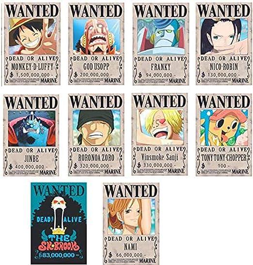 One Piece Poster Wanted Luffy 1.5 Billion Reward O: Amazon.es: Hogar