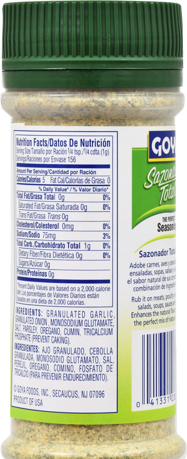 Amazon.com : Goya Foods Sazonador Total Seasoning, 5.5 Ounce (Pack of 24) : Grocery & Gourmet Food