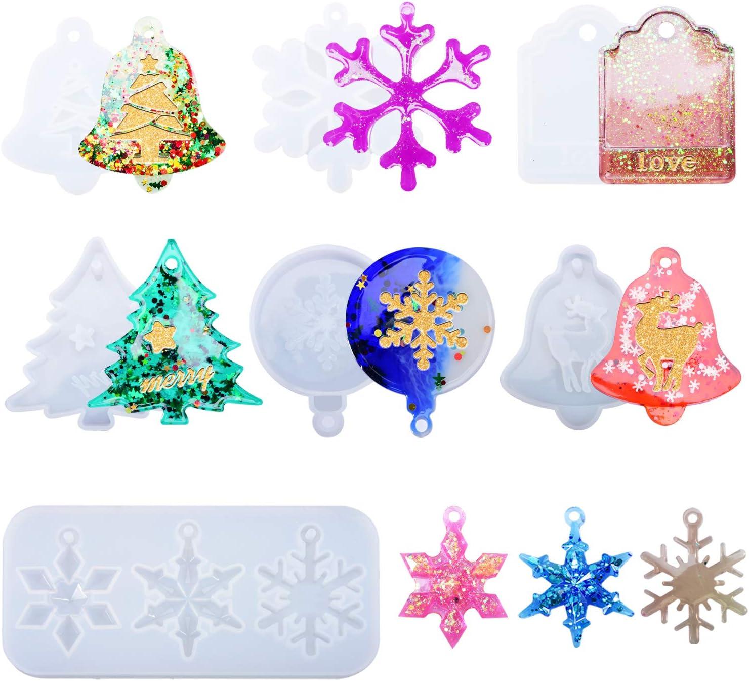 Christmas Theme Snowflake Silicone Mold UV Epoxy Resin Mold