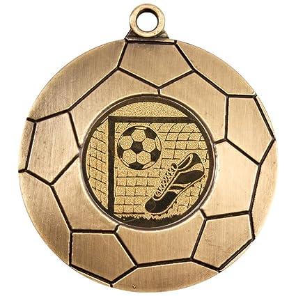 Personalizado grabado logotipo con balón de fútbol 50 mm medalla y ...