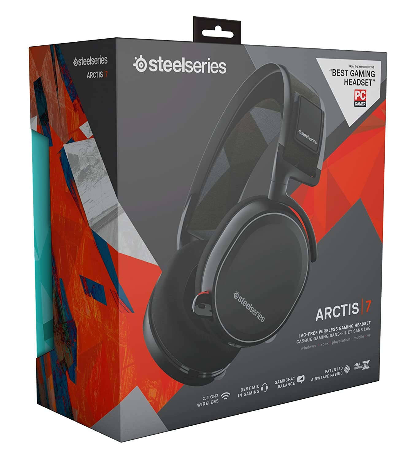 SteelSeries Arctis 7 Lag-Free Wireless Gaming Headset with DTS Headphone:X  7 1 Surround for PC, Playstation 4, VR, Mac and Wired for Nintendo Switch,