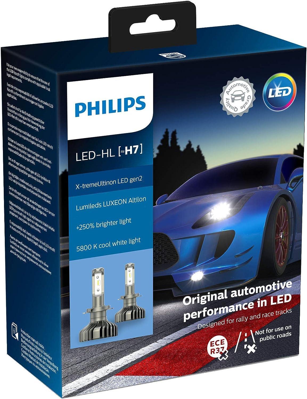 Philips automotive lighting 11972XUWX2 X-tremeUltinon gen2 LED Faros Delanteros (H7), 5.800K, Set de 2