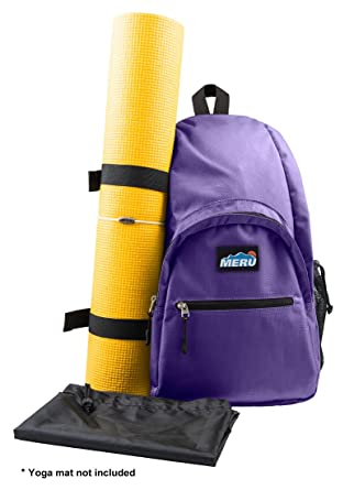 Amazon.com: MERU mochila bandolera para yoga, impermeable ...