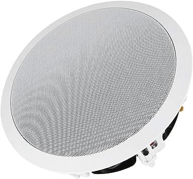 Denash 8 Altavoces de Pared/Techo Empotrados, Altavoz Integrado en el Techo de Acero Inoxidable, Caja de Sonido para Eh hogar en el Techo: Amazon.es: Electrónica