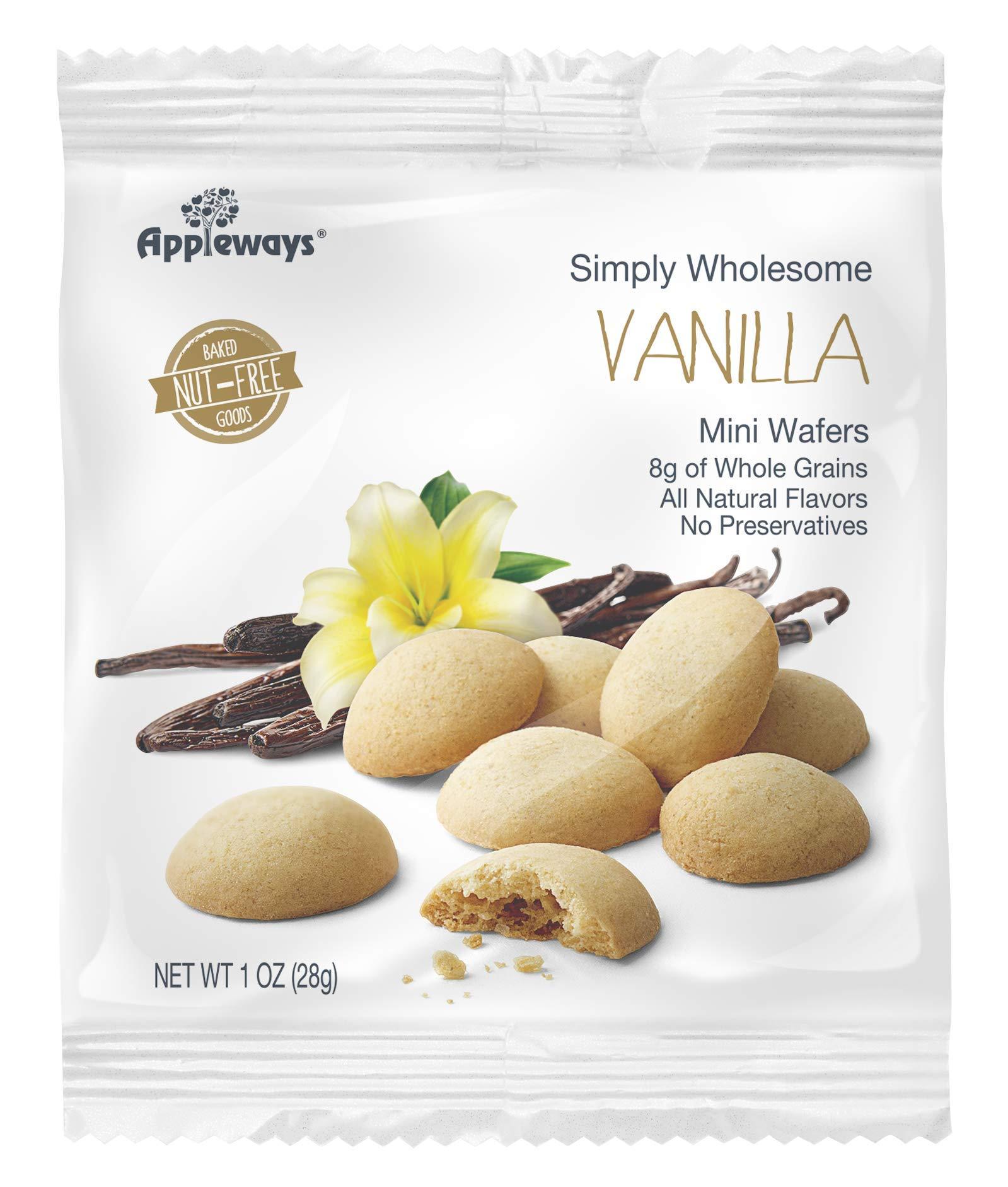 Appleways Whole Grain Vanilla Wafers, 1 Ounce - 108 per case.