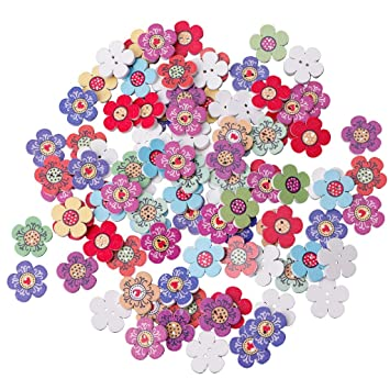 100pcs 2 hole Round Resin Buttons Home Decor Clothing Sewing Scrapbooking 14mm
