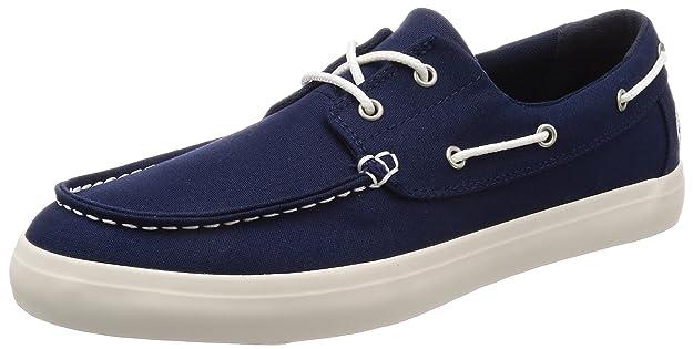 Timberland Newport Bay, Zapatos de Cordones Oxford para Hombre, Azul (Nebulas Blue Canvas J45), 45.5 EU