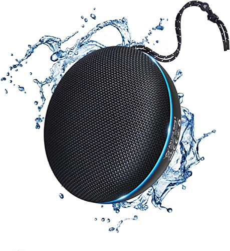 Axloie Portable Bluetooth Speaker, IPX6 Waterproof Bluetooth 5.0 Wireless Speaker with DSP Tech Stereo Audio and Deep Bass, 20 Hours Playtime, Built-in Mic Hands-Free Calling for Home Outdoors Travel