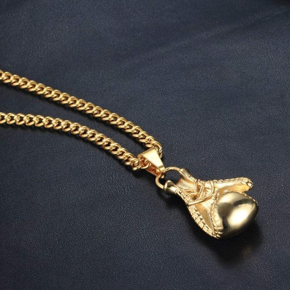 Wyanger Fashion Fitness Boxing Gloves Pendant Vintage Hip Hop Punk Titanium Steel Necklace