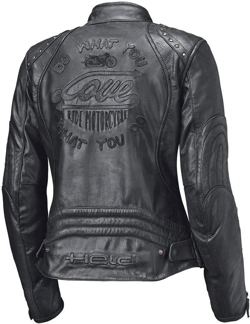 Held Asphalt Queen II Damen Motorrad Lederjacke Schwarz 40