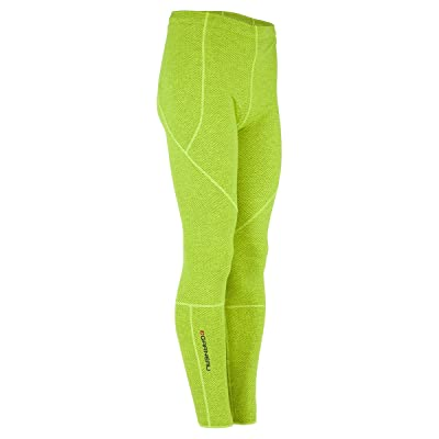 Louis Garneau Stockholm Men's Tights - No Chamois Yellow/Charcoal, L