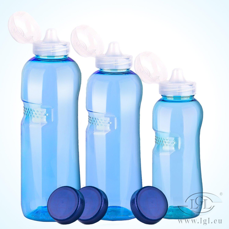Cavodrink Set di bottiglie di acqua 0, 5–0, 75–1L bottiglie di acqua + 3X coperchio della Bevanda 5-0 Greiner