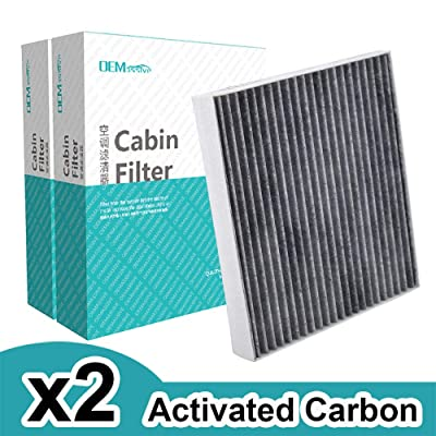 2x Car Accessories Pollen Cabin Air Filter Includes Activated Carbon 97133-D1000 97133-D3000 Fits For Hyundai Creta IX25 Solaris Tucson Kia Rio Sportage Stonic 2020 2020 2020: Automotive