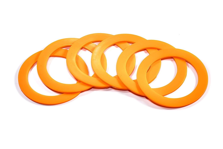 Blanco de goma juntas de sellado anillos//de repuesto para Kilner Clip y tapa tarros