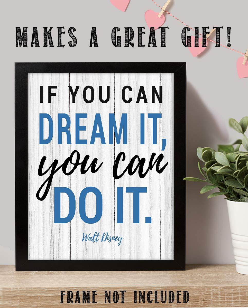Walt Disnet Quote Wall Poster