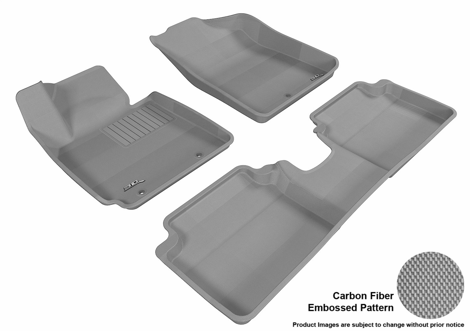 3D MAXpider Second Row Custom Fit All-Weather Floor Mat for Select Hyundai Veloster Models Tan Kagu Rubber L1HY02421502