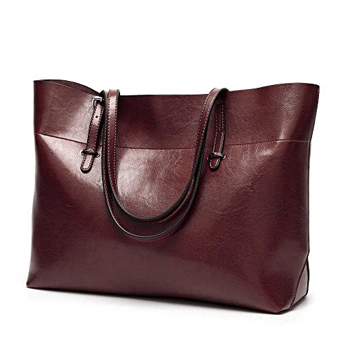 4f3b7ebe5ae AILEESE Womens Lady Soft Leather Handbags Large Capacity Retro ...
