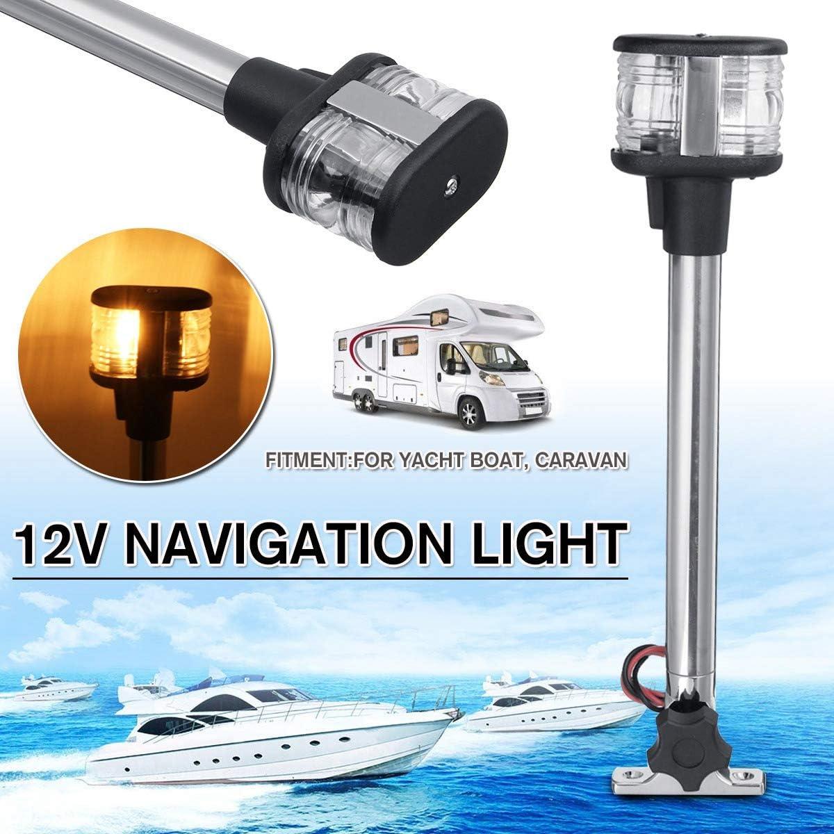 Bestlymood 12-24V Umklappen LED Navigations Licht f/ür Yacht Boot Heck Anker Licht 25Cm Pactrade Marine Boot Segel Signal Licht