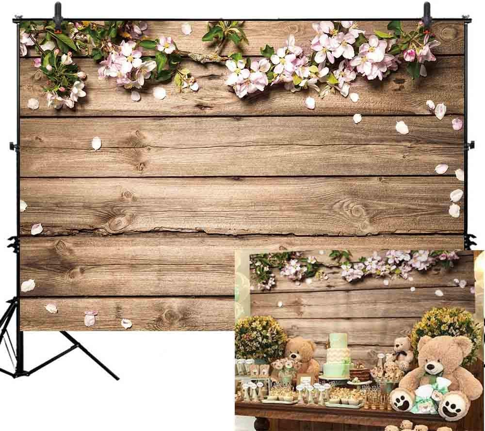 Amazon Com Allenjoy 7x5ft Vinyl Rustic Wood Wedding Flowers