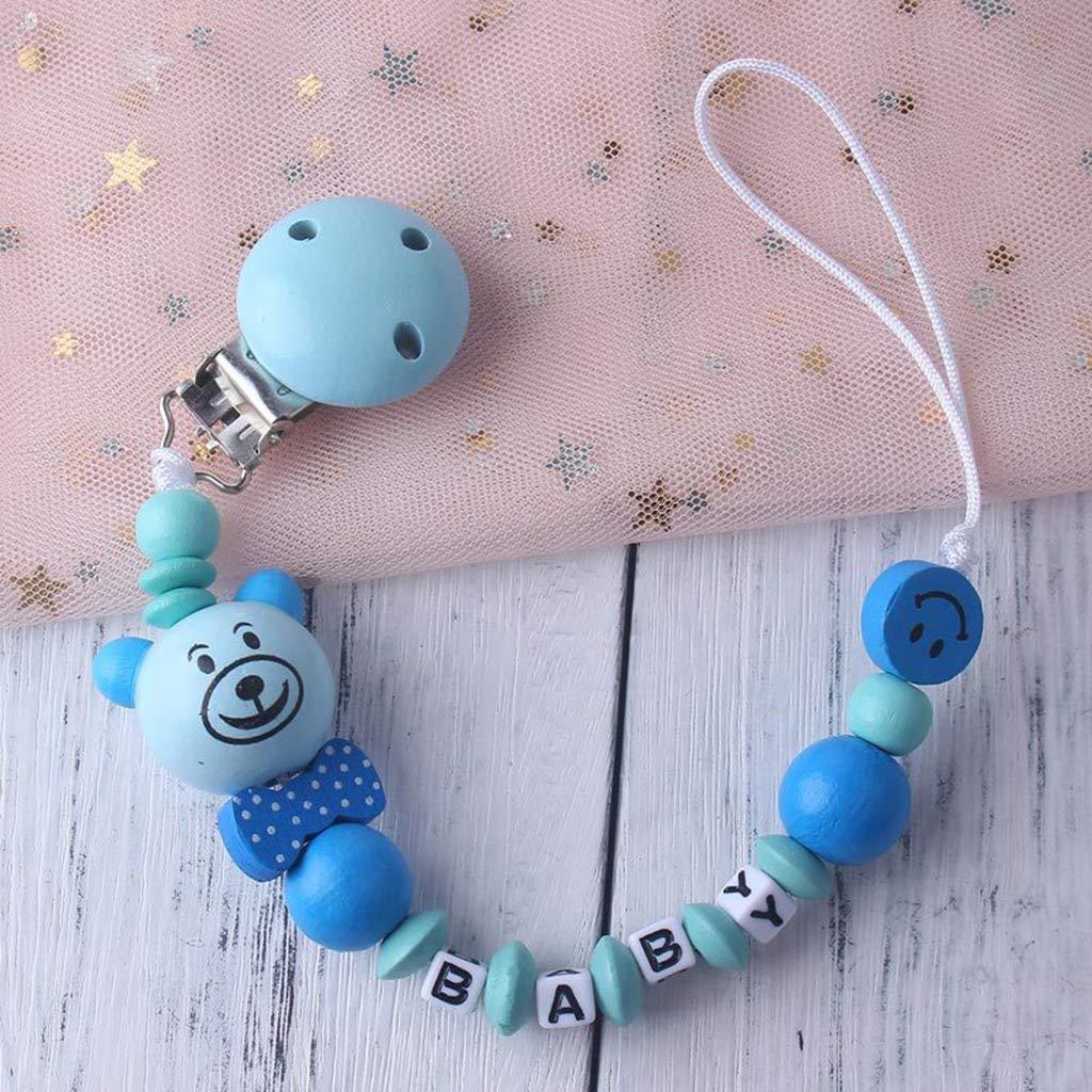 llwei258 Kind baby schnullerkette beruhigende jungen m/ädchen niedlichen b/ären bunte design kinder spielzeug