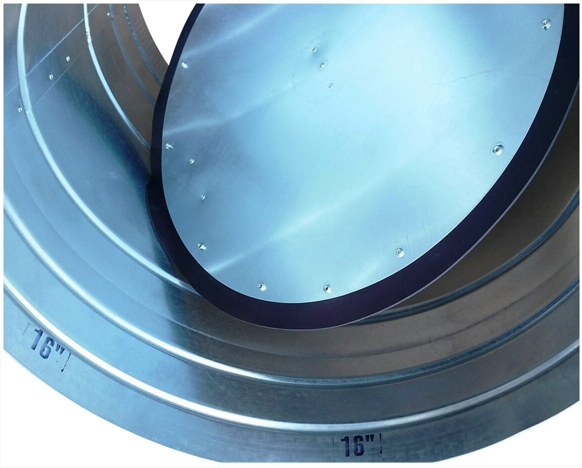 Zone Damper 6'' Round Professional-Grade (HVAC Zoning) - Preminum replacement for Honeywell, EWC, Durozone, more (06)