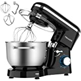 HOWORK Stand Mixer, 660W Electric Kitchen Food Mixer With 6.55 Quart Stainless Steel Bowl, 6-Speed Control Dough Mixer With D